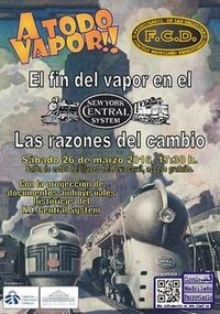 Jornada ¡A Todo Vapor!, el 26 de marzo y 27 de marzo en el Museo