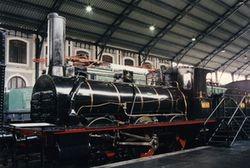 """Piezas destacadas: Locomotora de vapor 030-2107 """"El Alagón"""""""