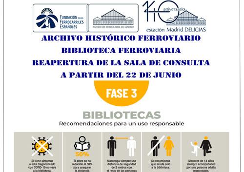 Reapertura del Archivo Histórico Ferroviario y de la Biblioteca Ferroviaria