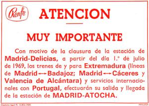 50 años del cierre de Madrid Delicias