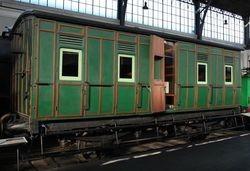 Pieza destacada: coche de viajeros C16 del Ferrocarril de Lorca-Baza-Águilas