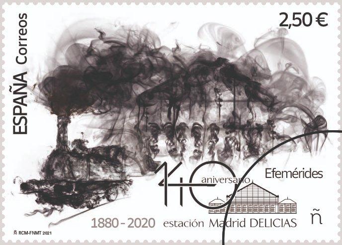 Correos celebra el 140º aniversario de la estación de Madrid-Delicias con la emisión un sello conmemorativo