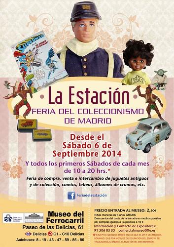 """El Museo del Ferrocarril acoge la primera edición de la Feria del Coleccionismo de Madrid """"La Estación"""""""