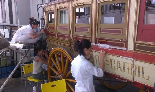 Restauración de un ómnibus de 1861