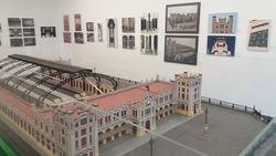 La maqueta de la Estación del Norte de Valencia, en la exposición que conmemora el centenario de la estación