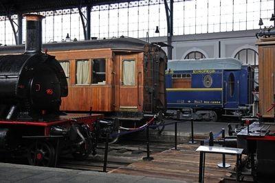 Nueva disposición del material rodante en el Museo del Ferrocarril de Madrid