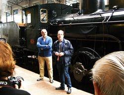 """Cesión de la placa de la locomotora """"Varela de Montes"""" al Museo del Ferrocarril de Asturias"""
