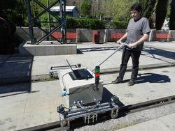 Demostración de un sistema de detección de defectos de carril