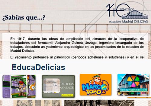 """""""¿Sabías que...?"""" y """"EducaDelicias"""" enriquecen con nuevos contenidos la exposición """"Madrid-Delicias. 140 años de una estación"""""""
