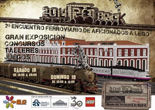 Una gran exposición de trenes construidos con piezas LEGO®
