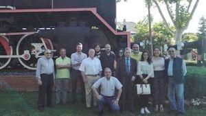 Alumnos en prácticas del Museo visitan el Museo del Ferrocarril de Las Matas
