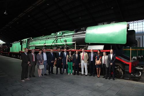 Visita del presidente de Saudi Railway Organization al Museo del Ferrocarril